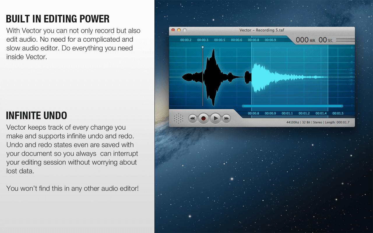 Vector 3 Easy Audio Editing For The Mac Os X Audio Editor