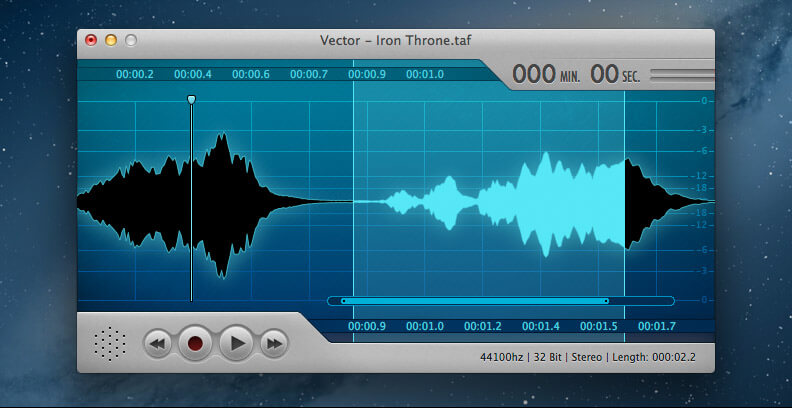 Mac Audio Editor Window