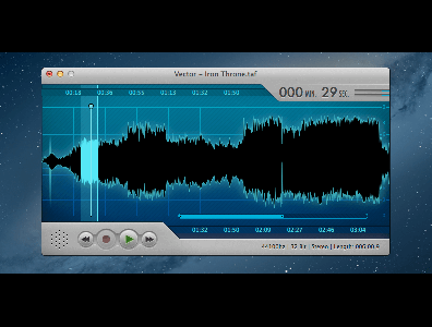 OS X Audio Editor and Recorder