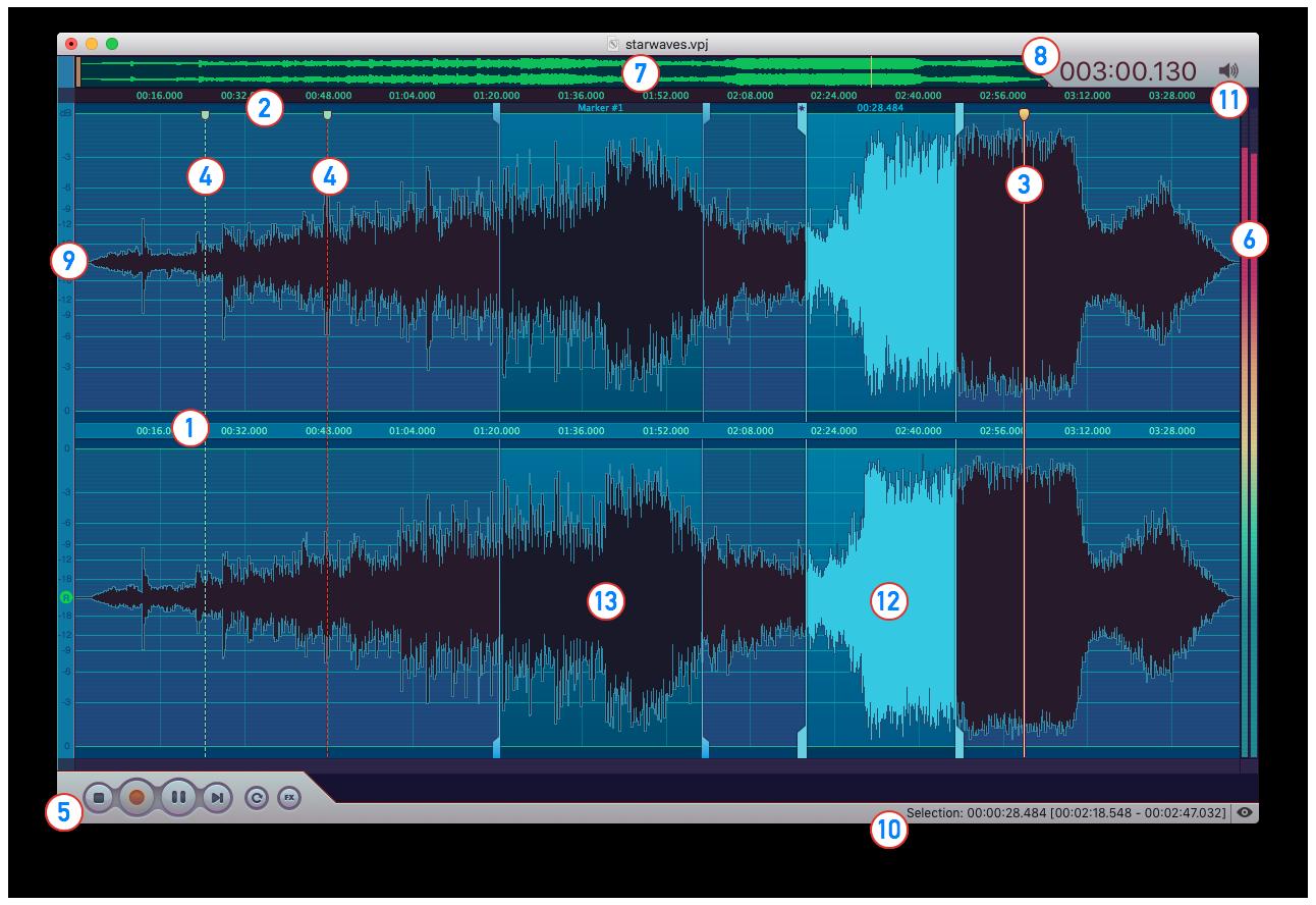 Vector 3 Mac Audio Editor Manual