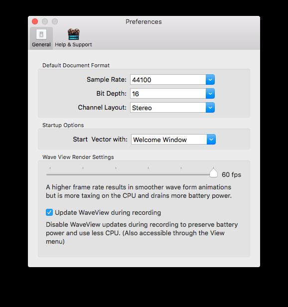 Vector 3 - Mac Audio Editor Manual